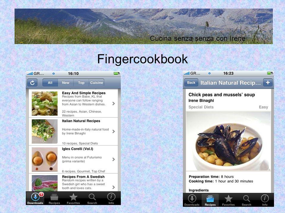 Fingercookbook Cucina senza senza con Irene