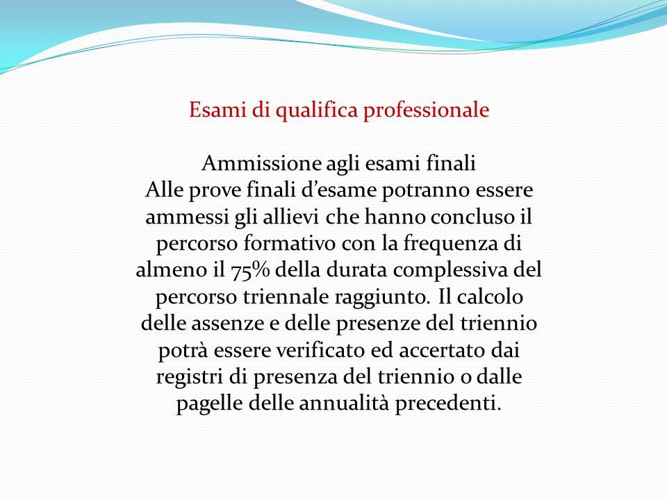 Il giudizio di ammissione agli esami esplicita il livello di padronanza complessiva maturato dall'allievo durante tutto il percorso triennale.