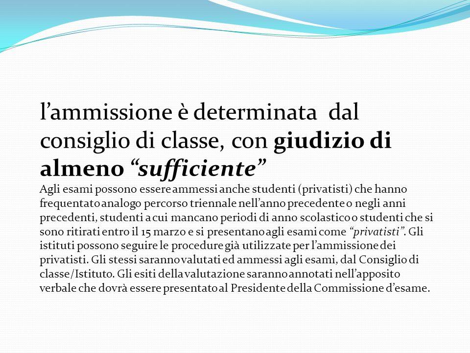 CONTESTUALMENTE AL VERBALE D'ESAME dovrà essere compilato l'Allegato 4 Scheda Riassuntiva delle operazioni d'esame .