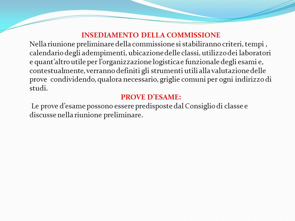 PROVE EQUIPOLLENTI (art.16 -17 -20 L.104/1992, DPR 323/1998 art.