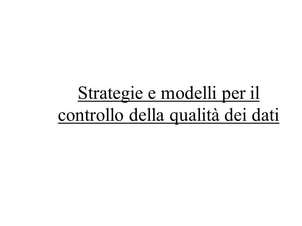 Strategie e modelli per il controllo della qualità dei dati