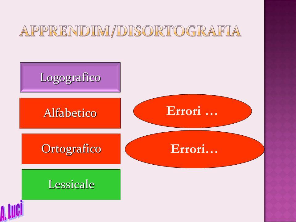 Logografico Ortografico Alfabetico Lessicale Errori …