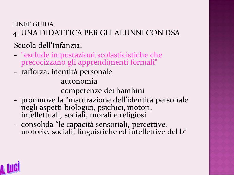 LINEE GUIDA 4.2 Scuola primaria 4.2.1 Disturbo di scrittura Metodo fono-sillabico con l'alunno DSA: -ogni consonante è illustrata come derivante dalla forma di un particolare oggetto -l'iniziale della parola che lo denota deve somigliare a quella lettera (es.