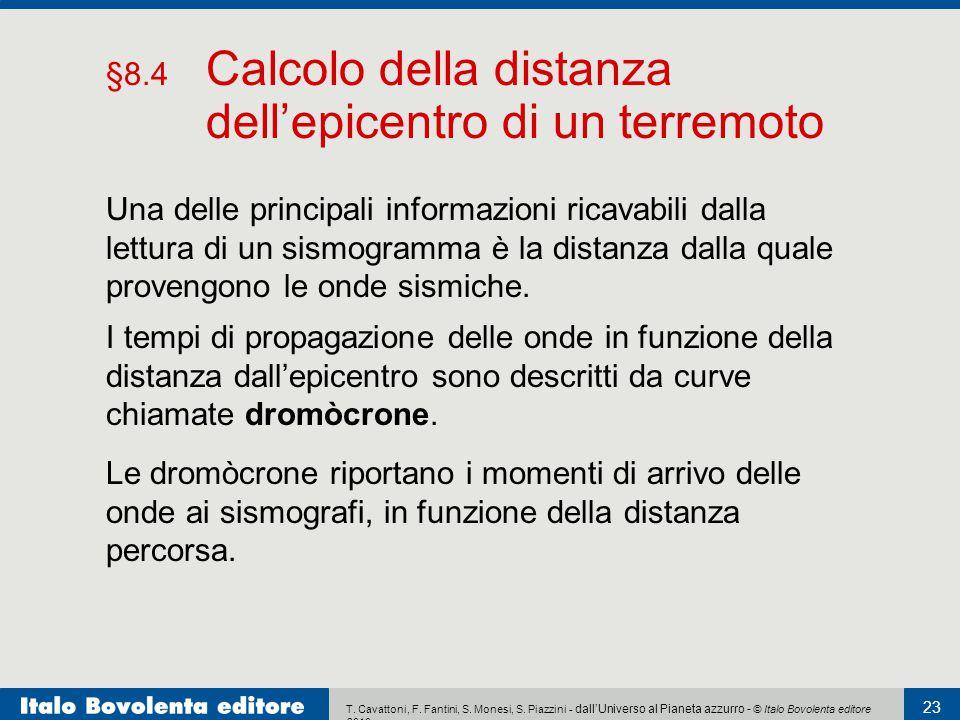 T. Cavattoni, F. Fantini, S. Monesi, S. Piazzini - dall'Universo al Pianeta azzurro - © Italo Bovolenta editore 2010 23 Una delle principali informazi