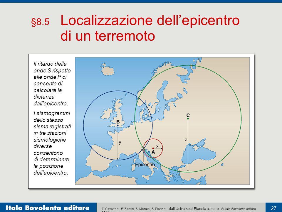 T. Cavattoni, F. Fantini, S. Monesi, S. Piazzini - dall'Universo al Pianeta azzurro - © Italo Bovolenta editore 2010 27 I sismogrammi dello stesso sis