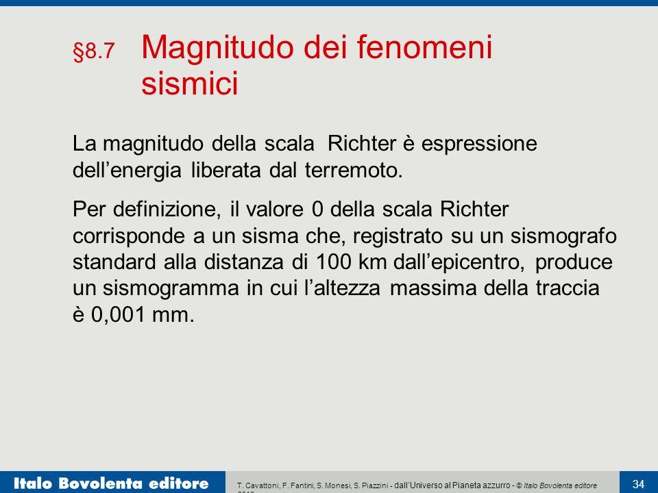 T. Cavattoni, F. Fantini, S. Monesi, S. Piazzini - dall'Universo al Pianeta azzurro - © Italo Bovolenta editore 2010 34 Per definizione, il valore 0 d