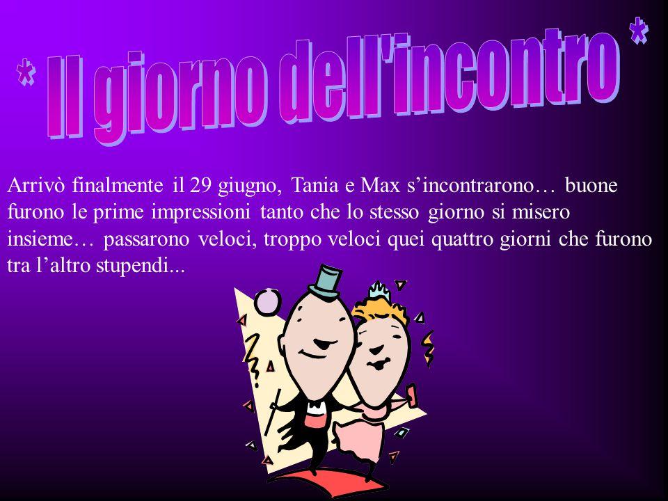Tania e Massimo si conoscono in Internet il 22/04/2000, dopo un lungo periodo di rapporti multimediali, mail dopo mail si rendono conto che si amano finchè decidono di incontrarsi e lui la va a trovare.