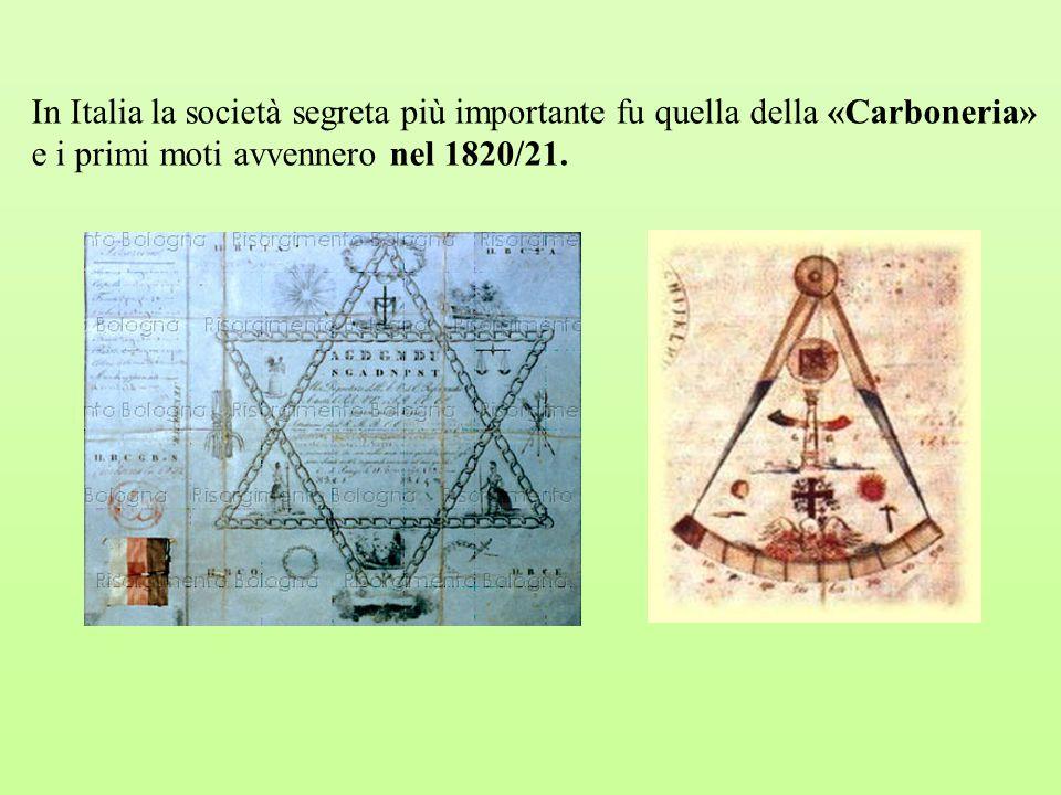 IL RISORGIMENTO Il periodo che va dai primi moti (1820) al 1861 (anno dell unità d Italia) prende il nome di Risorgimento.
