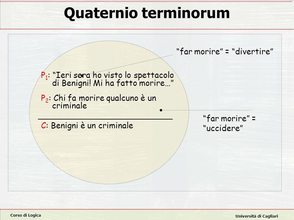 Corso di Logica Università di Cagliari Esempi di tendenziosità: domande con presupposto Alcune domande sono tali da incastrare l'interrogato indipendentemente dalla risposta fornita.
