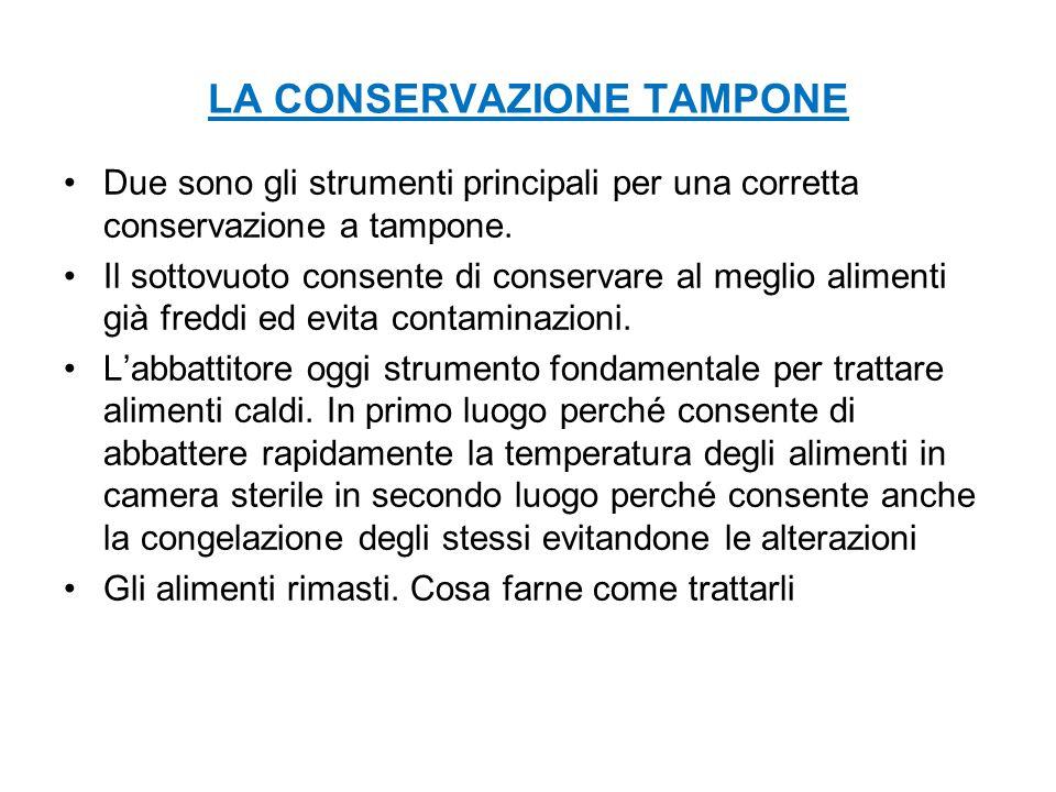 LA CONSERVAZIONE TAMPONE Due sono gli strumenti principali per una corretta conservazione a tampone.