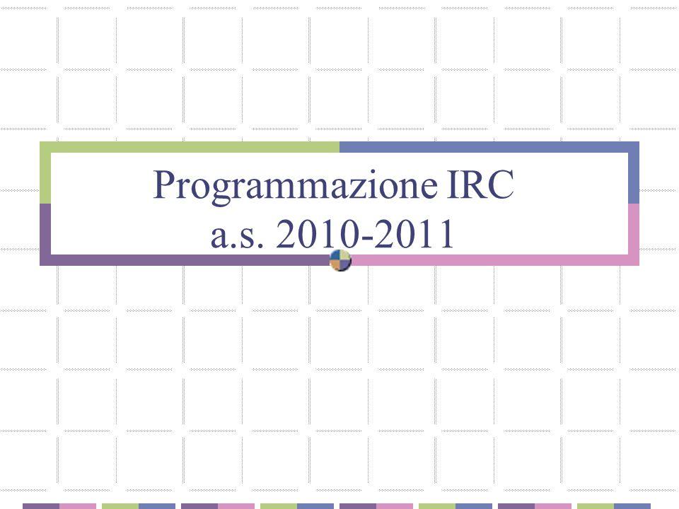 Programmazione IRC a.s. 2010-2011