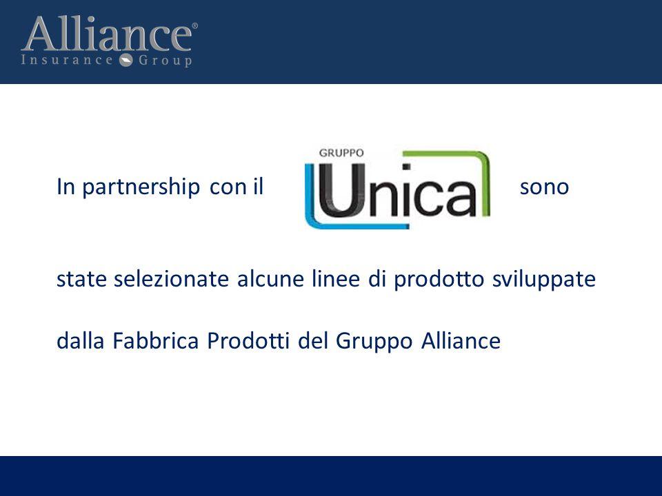 In partnership con ilsono state selezionate alcune linee di prodotto sviluppate dalla Fabbrica Prodotti del Gruppo Alliance