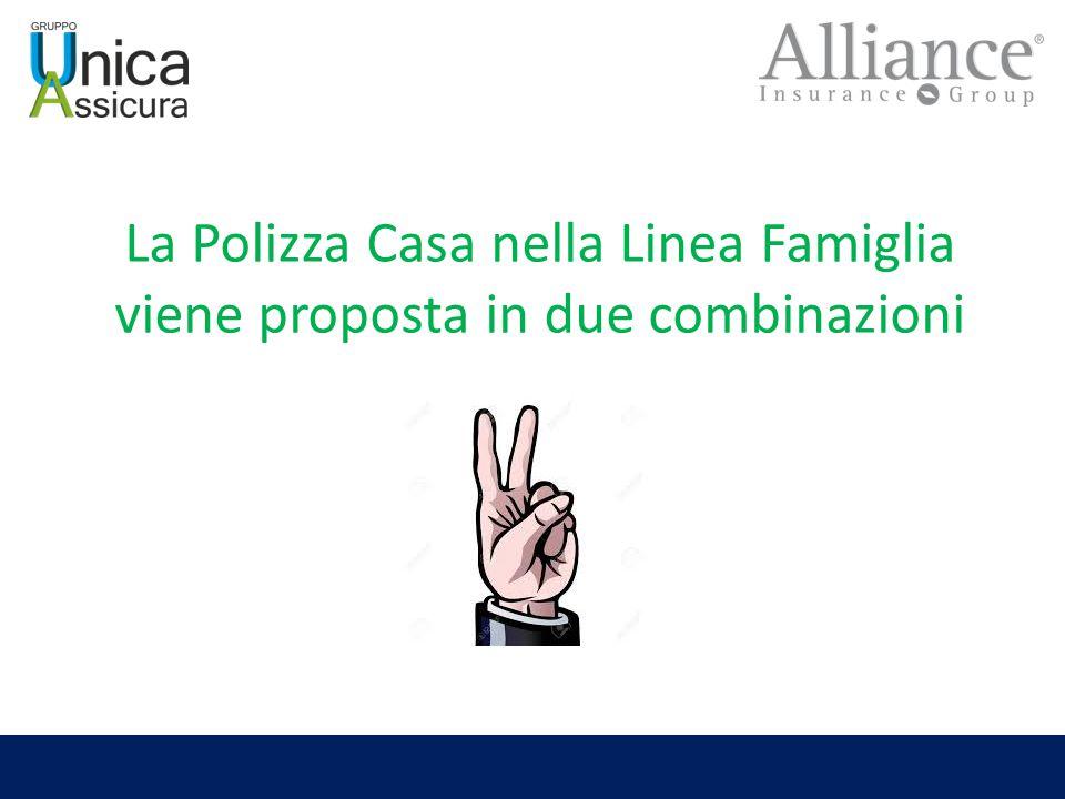 La Polizza Casa nella Linea Famiglia viene proposta in due combinazioni