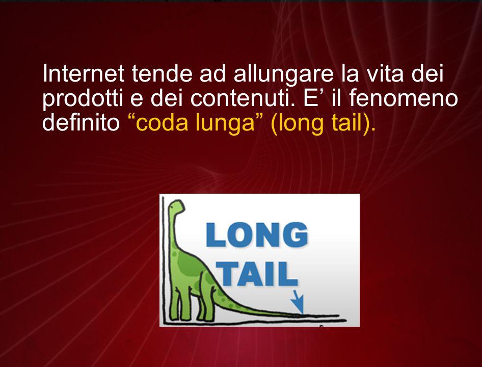 Internet tende ad allungare la vita dei prodotti e dei contenuti.