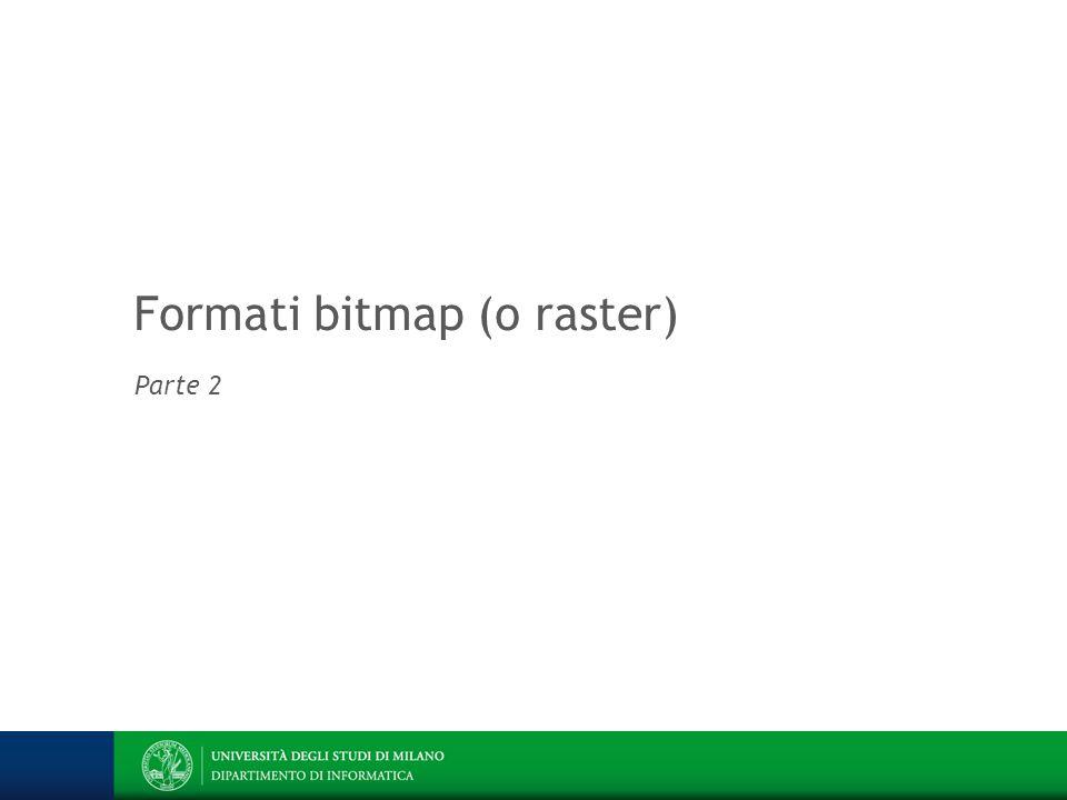 Formati bitmap (o raster) Parte 2
