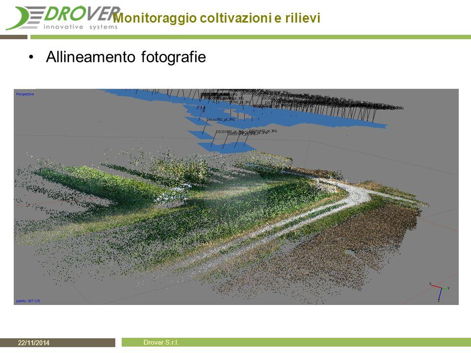 22/11/2014 Drover S.r.l. Monitoraggio coltivazioni e rilievi Allineamento fotografie
