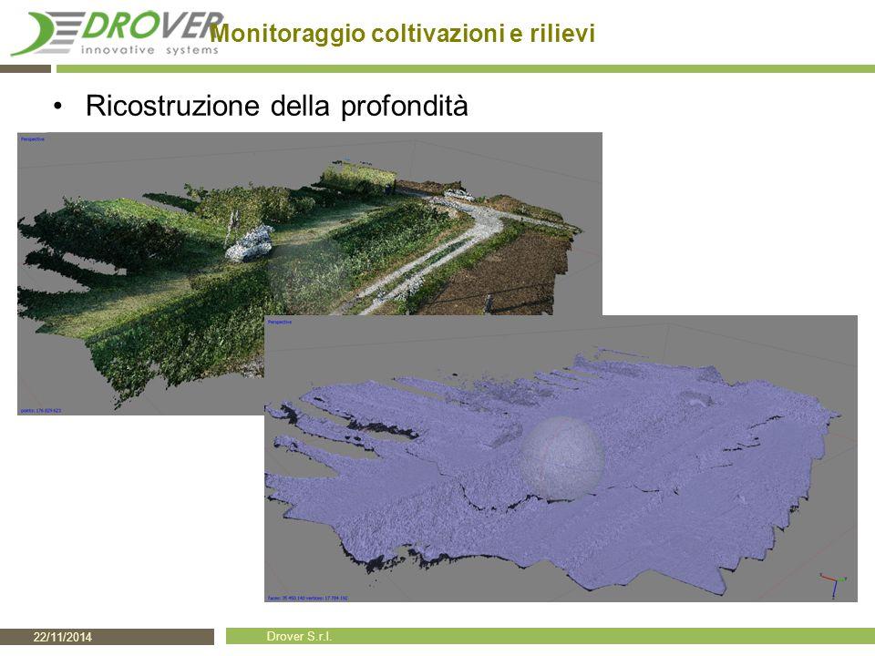 22/11/2014 Drover S.r.l. Monitoraggio coltivazioni e rilievi Ricostruzione della profondità