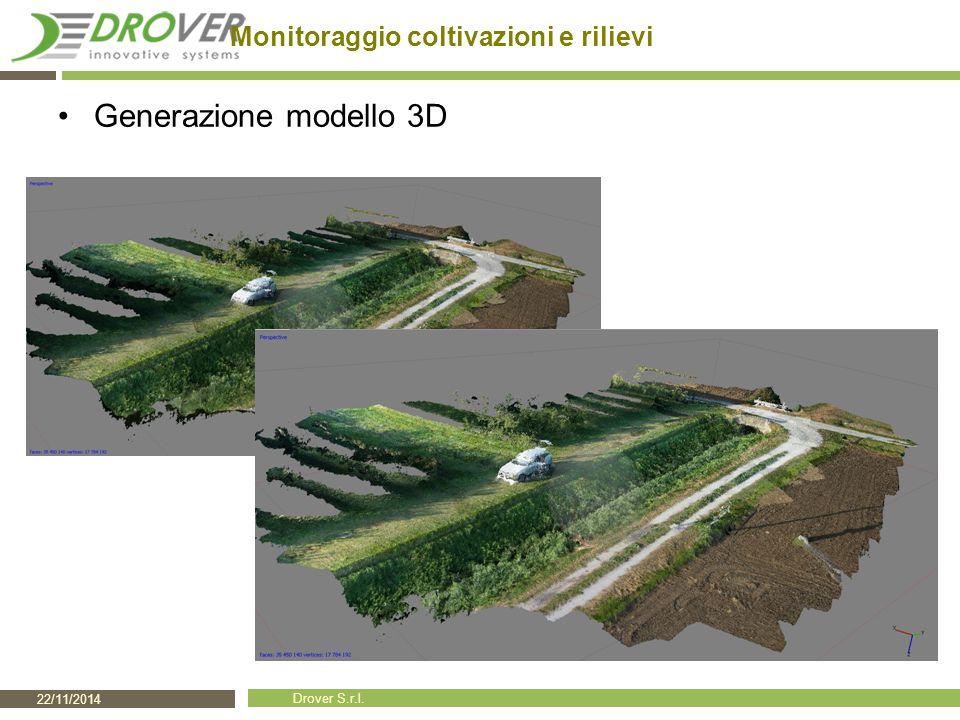22/11/2014 Drover S.r.l. Monitoraggio coltivazioni e rilievi Generazione modello 3D
