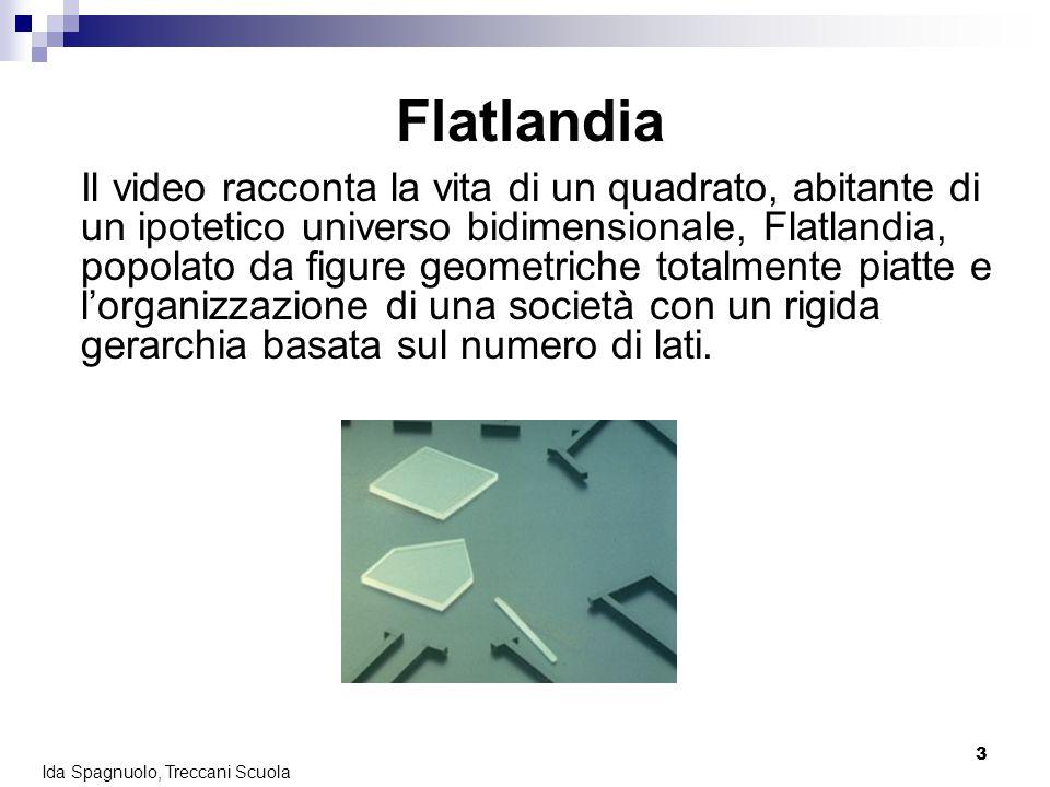 4 Ida Spagnuolo, Treccani Scuola Flatlandia Ma una notte una sfera visita Flatlandia e conduce il quadrato nel mondo tridimensionale: è un esperienza indimenticabile per il quadrato, che da quel momento non sopporta più la limitatezza del suo mondo.