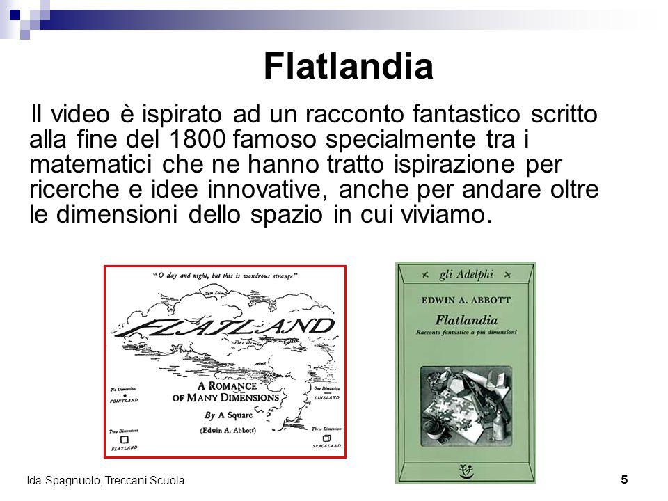 5 Ida Spagnuolo, Treccani Scuola Flatlandia Il video è ispirato ad un racconto fantastico scritto alla fine del 1800 famoso specialmente tra i matemat