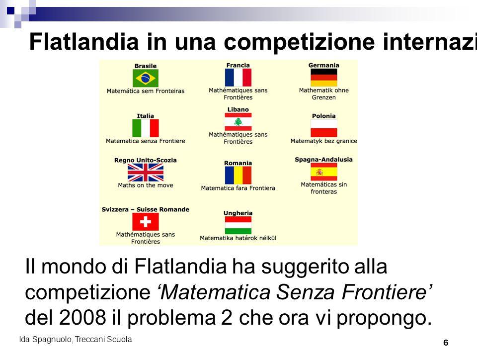 6 Ida Spagnuolo, Treccani Scuola Il mondo di Flatlandia ha suggerito alla competizione 'Matematica Senza Frontiere' del 2008 il problema 2 che ora vi