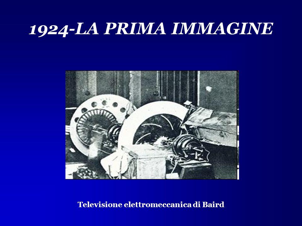 1924-LA PRIMA IMMAGINE Televisione elettromeccanica di Baird