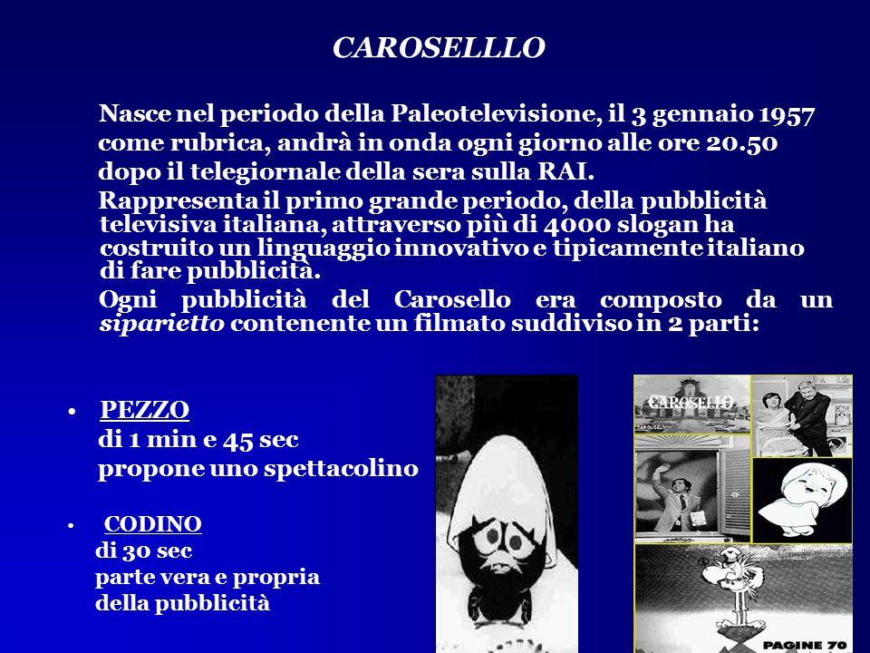 Nasce nel periodo della Paleotelevisione, il 3 gennaio 1957 come rubrica, andrà in onda ogni giorno alle ore 20.50 dopo il telegiornale della sera sul