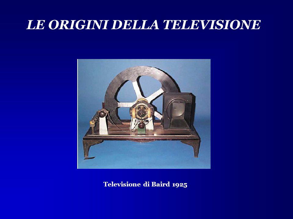 LE ORIGINI DELLA TELEVISIONE Televisione di Baird 1925