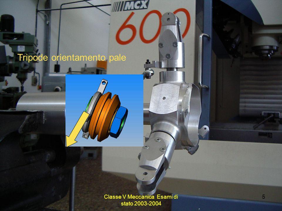 Classe V Meccanica Esami di stato 2003-2004 5 Tripode orientamento pale