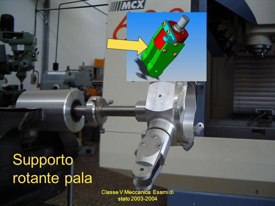 Classe V Meccanica Esami di stato 2003-2004 6 Supporto rotante pala