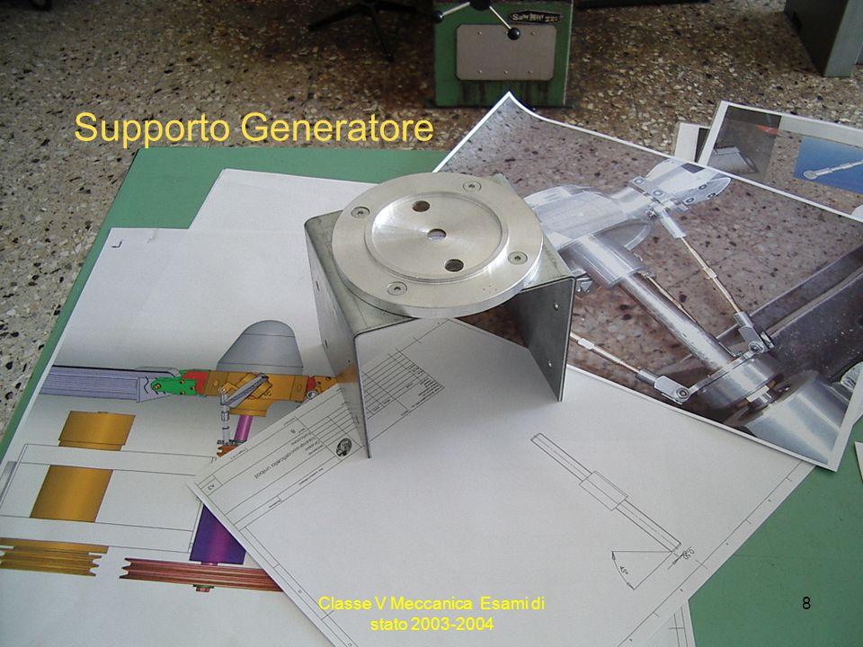 Classe V Meccanica Esami di stato 2003-2004 8 Supporto Generatore