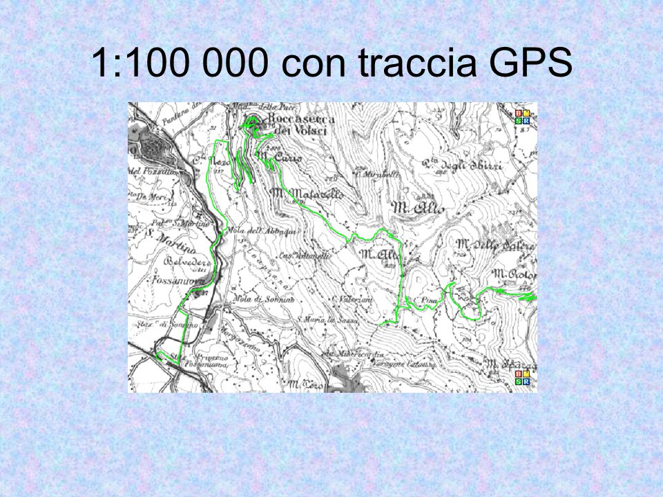 1:100 000 con traccia GPS