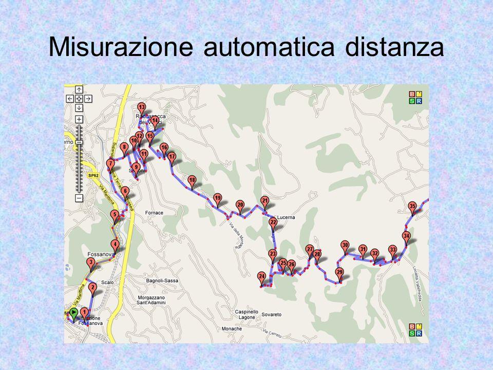Misurazione automatica distanza