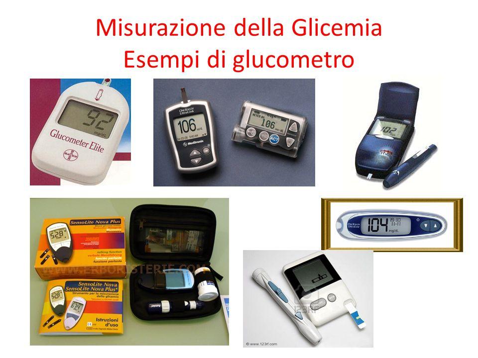Misurazione della Glicemia Esempi di glucometro