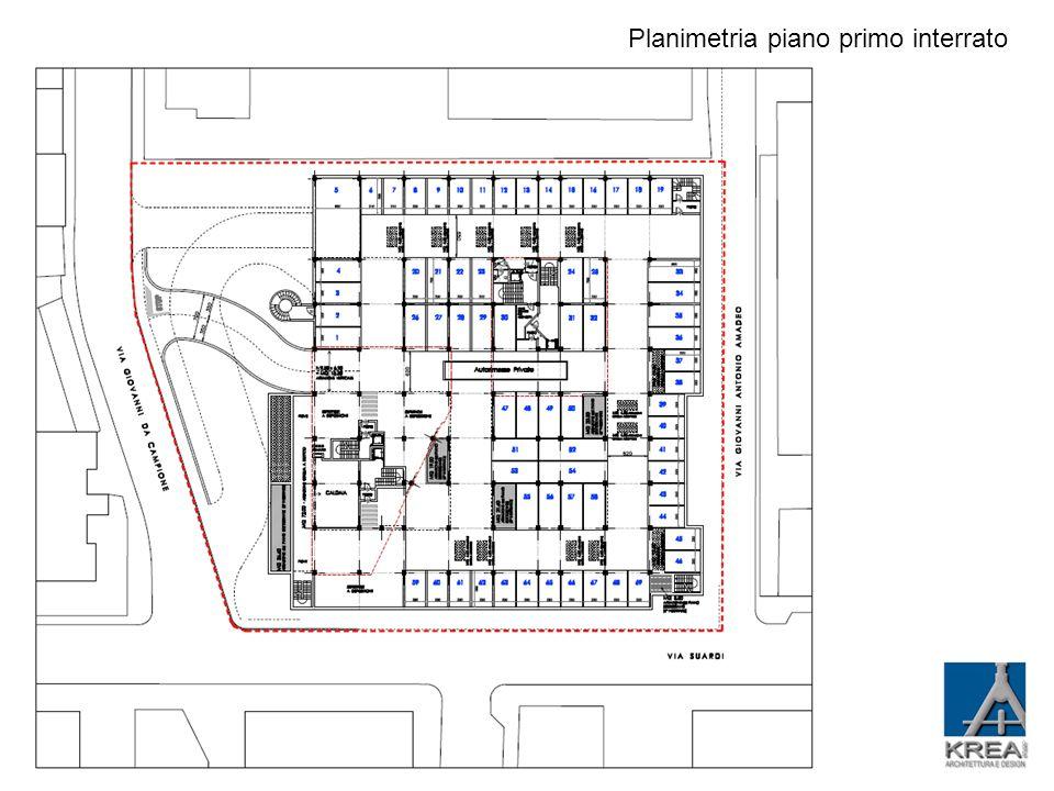 Planimetria piano secondo interrato