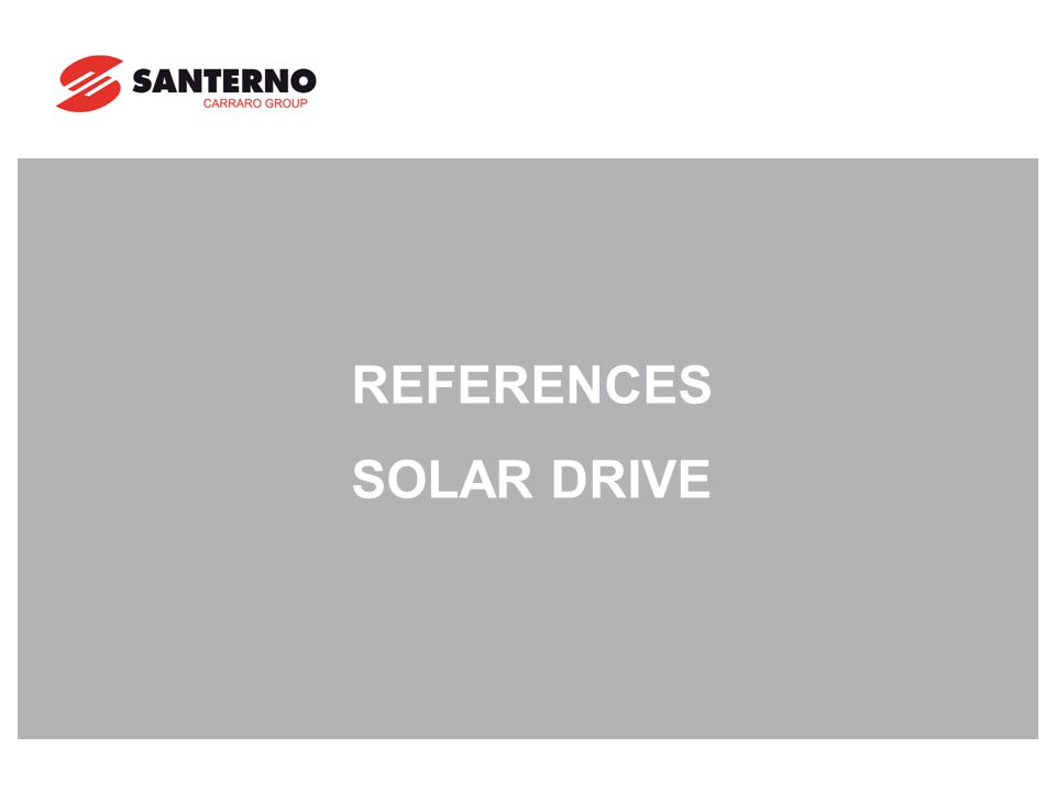 REFERENCES SOLAR DRIVE
