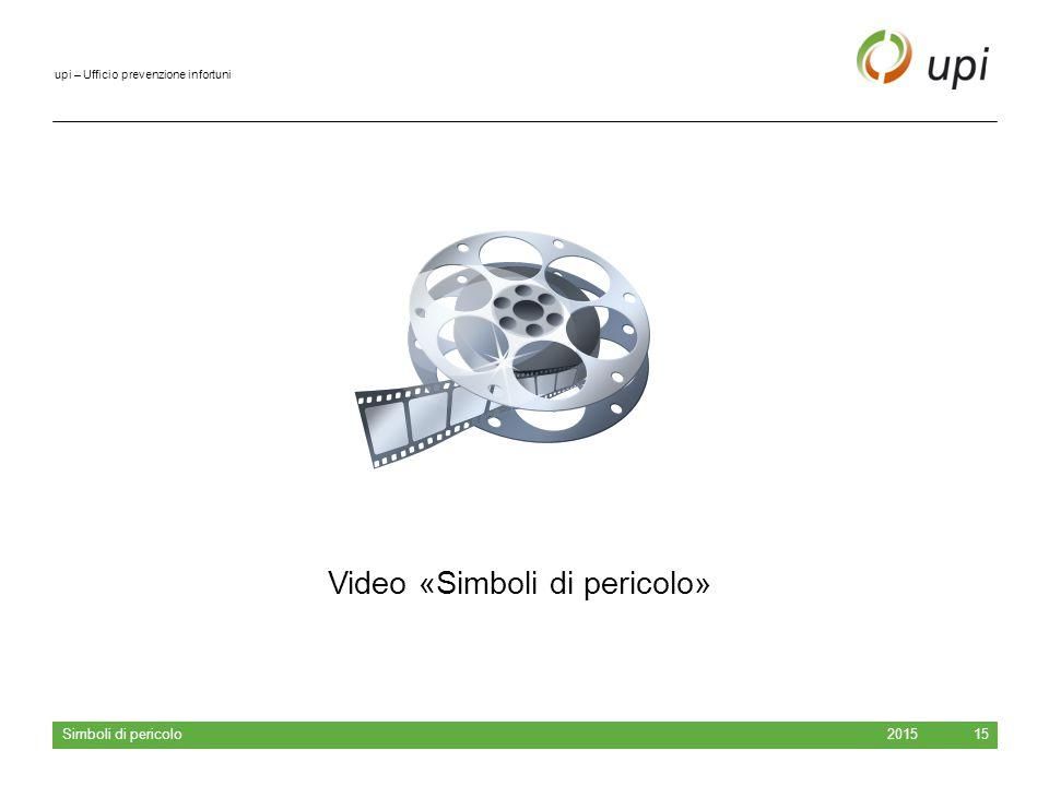 upi – Ufficio prevenzione infortuni 2015 Simboli di pericolo 15 Video «Simboli di pericolo»