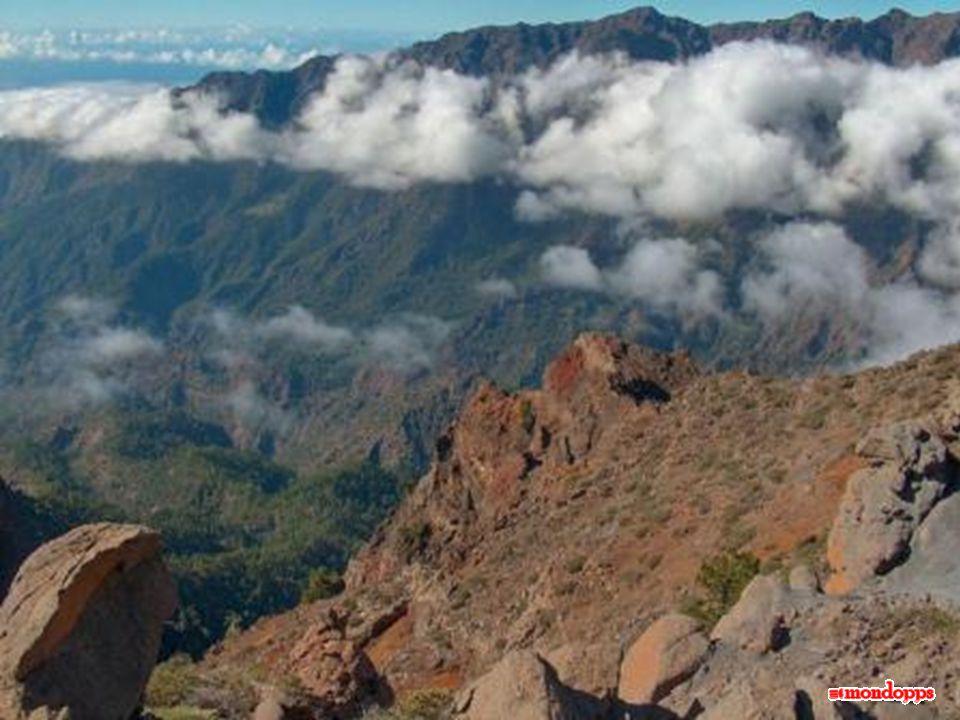 L' isola di La Palma arriva ad una altitudine massima di 2.423 metri.