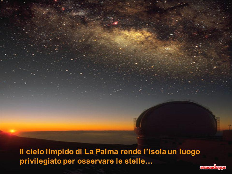 Il cielo limpido di La Palma rende l'isola un luogo privilegiato per osservare le stelle…