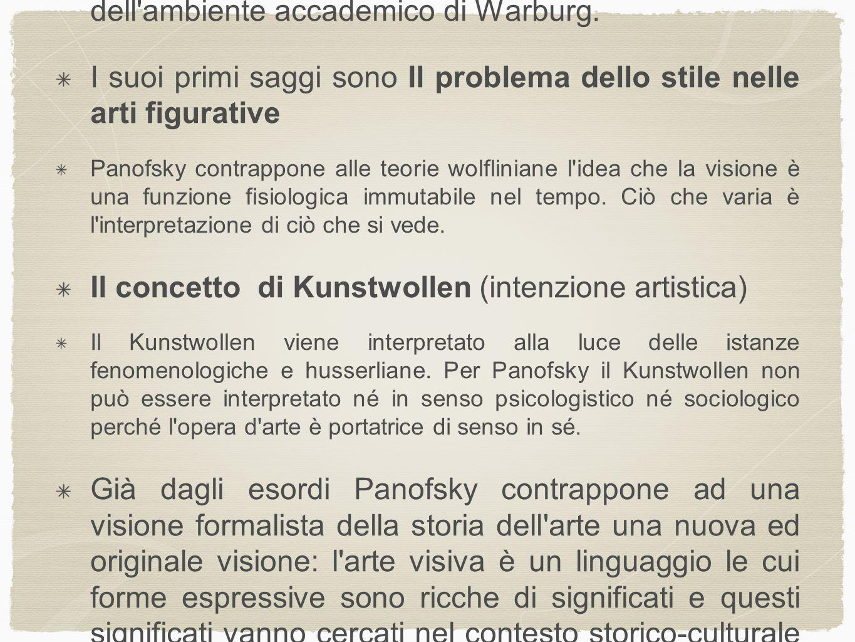 Saggi fondamentali 1921 Storia della teoria delle proporzioni come riflesso della storia degli stili 1923 Dürer, Melanconia I 1924 Idea 1926 La prospettiva come forma simbolica