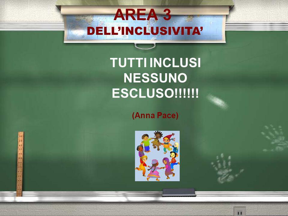 AREA 3 DELL'INCLUSIVITA' TUTTI INCLUSI NESSUNO ESCLUSO!!!!!! (Anna Pace)