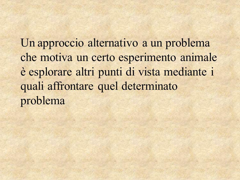 Un approccio alternativo a un problema che motiva un certo esperimento animale è esplorare altri punti di vista mediante i quali affrontare quel determinato problema