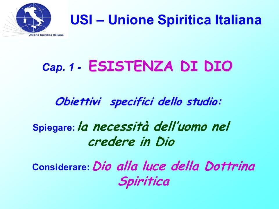 USI – Unione Spiritica Italiana DALLE SUE ORIGINI, L'UOMO CREDE IN DIO