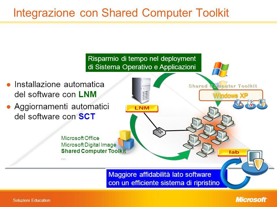 Soluzioni Education Maggiore affidabilità lato software con un efficiente sistema di ripristino Maggiore affidabilità lato software con un efficiente