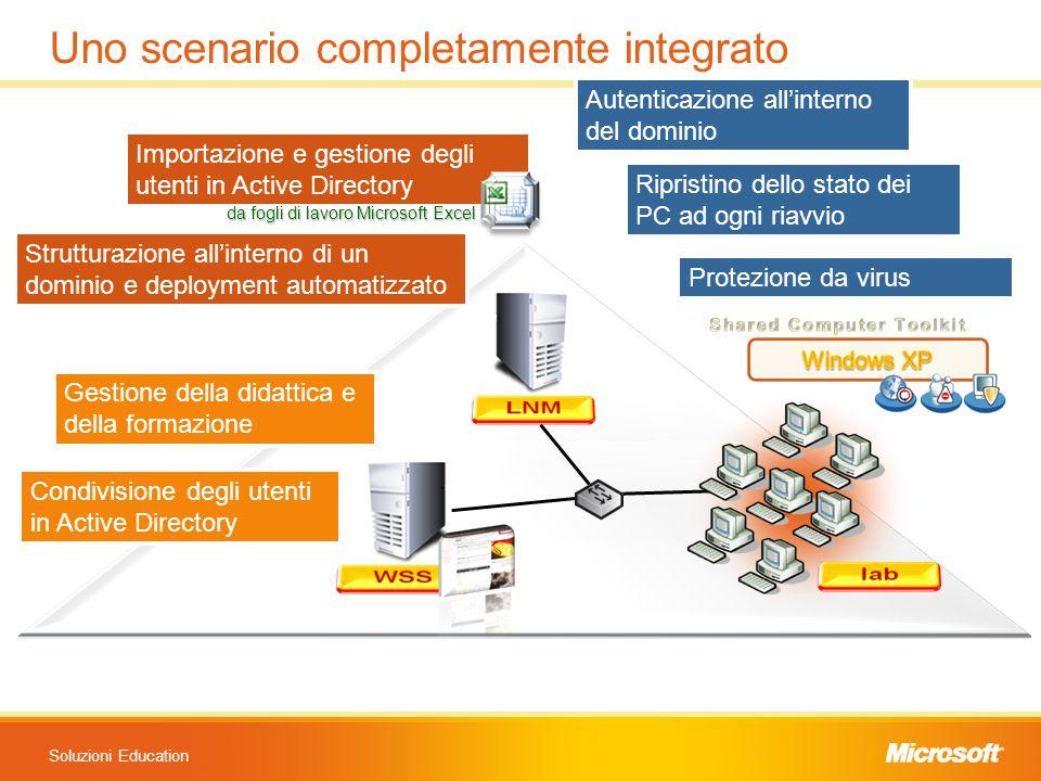 Soluzioni Education Uno scenario completamente integrato Importazione e gestione degli utenti in Active Directory da fogli di lavoro Microsoft Excel S