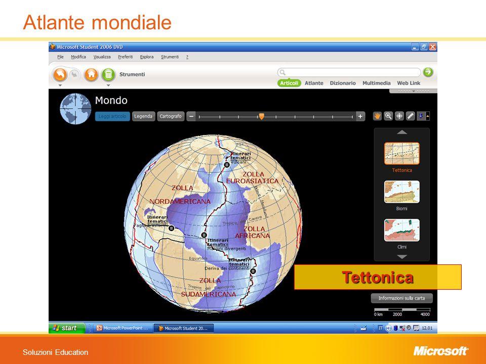 Soluzioni Education Atlante mondiale Tettonica