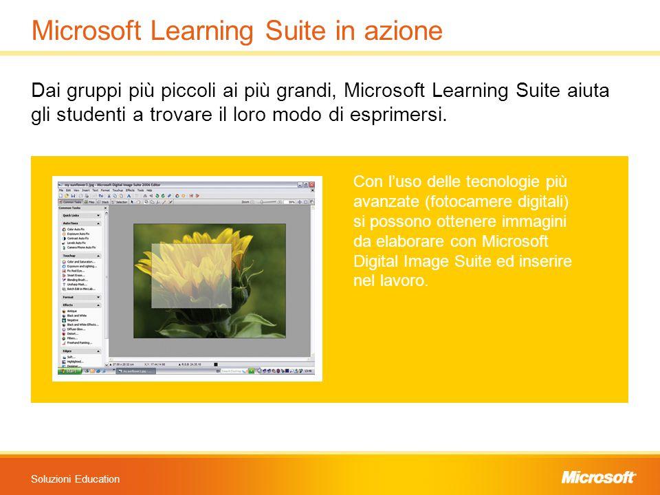 Soluzioni Education Microsoft Learning Suite in azione Dai gruppi più piccoli ai più grandi, Microsoft Learning Suite aiuta gli studenti a trovare il loro modo di esprimersi.