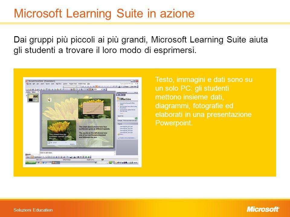 Soluzioni Education Microsoft Learning Suite in azione Dai gruppi più piccoli ai più grandi, Microsoft Learning Suite aiuta gli studenti a trovare il