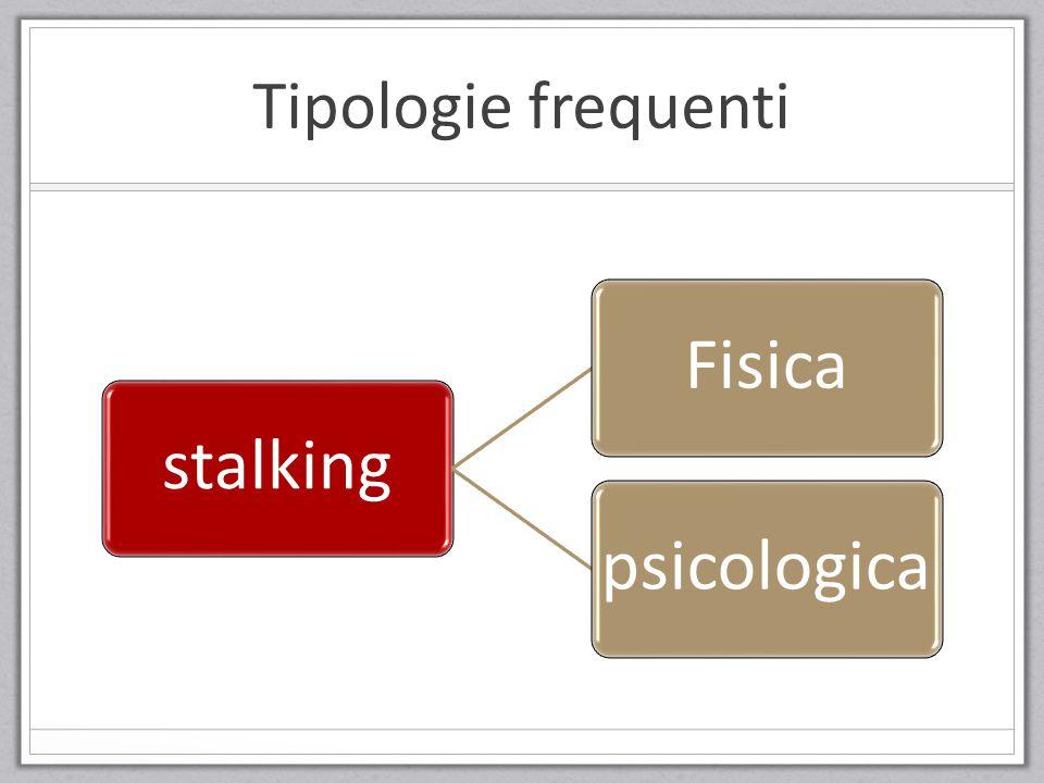 Tipologie frequenti stalkingFisicapsicologica