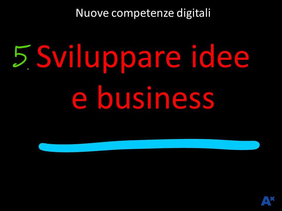 Nuove competenze digitali Sviluppare idee e business